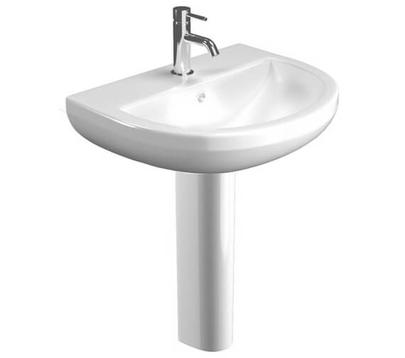 Saneux Air 550mm Wide Washbasin With Full Pedestal