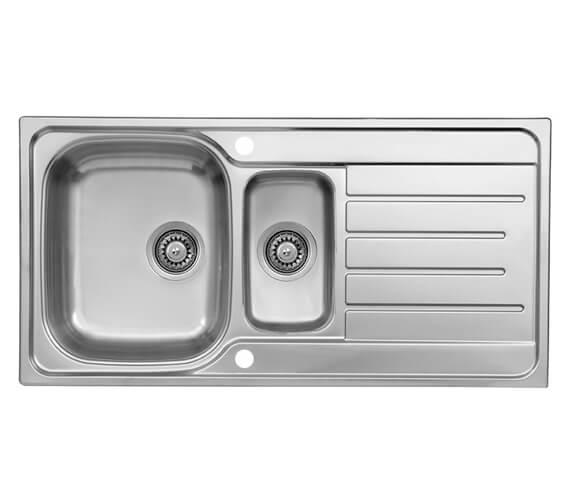 Reginox Le Mans 1.5 Bowl 980 x 500mm Stainless Steel Reversible Inset Sink