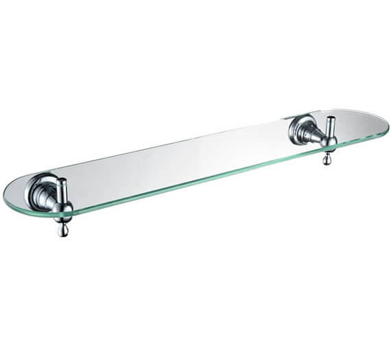 Bristan 1901 Chrome Glass Shelf