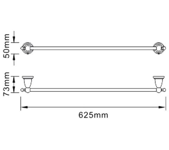 Technical drawing QS-V80620 / N2 RAIL C