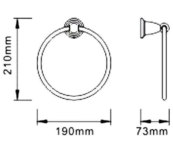 Technical drawing QS-V80621 / N2 RING C