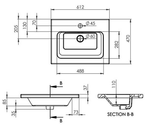Technical drawing QS-V80992 / 66010