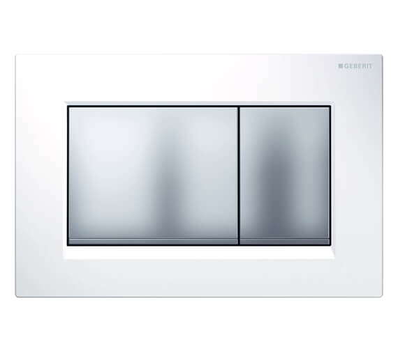 Additional image of Geberit Sigma30 246 x 164mm Dual Flush Plate White Gloss Chrome - 115.883.KJ.1