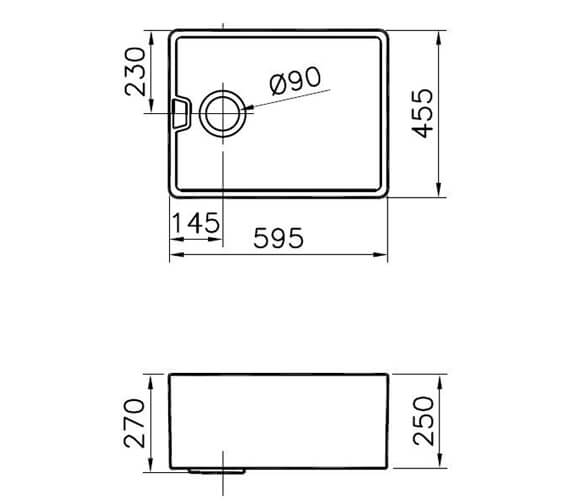 Technical drawing QS-V94120 / BELFAST 90MM