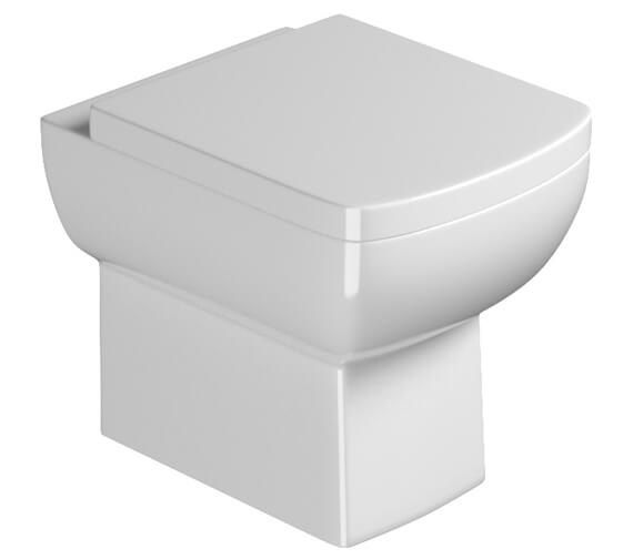 Saneux I-Line II Rimless Back To Wall WC Pan With Soft Close Seat And Cover