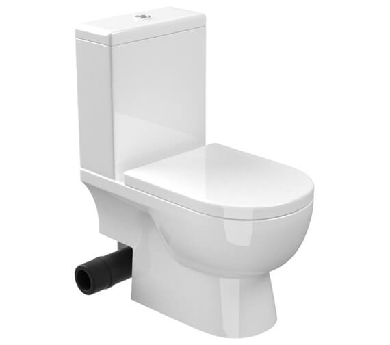 Saneux Austen Close Coupled Left Hand Soil Exit WC Pan With Cistern
