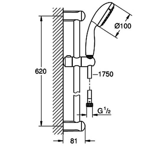 Technical drawing QS-V88964 / 27598001