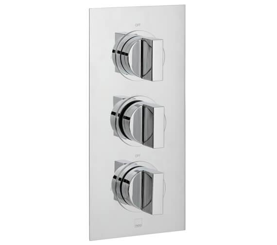 Vado Notion Concealed 2 Outlet 3 Handle Thermostatic Shower Valve