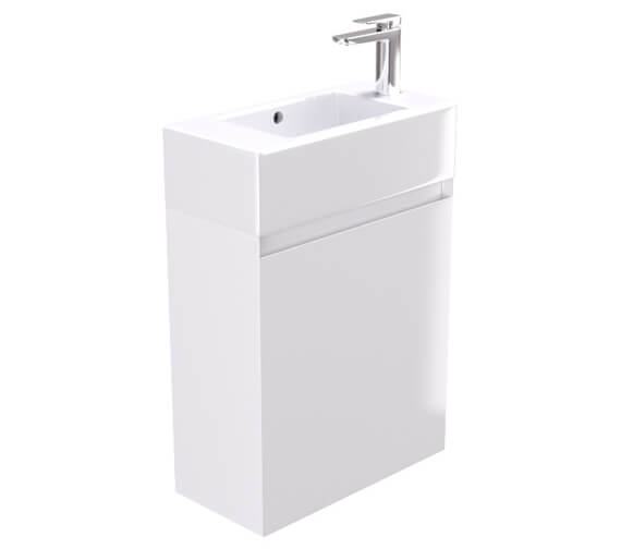 Saneux Podium 515mm Gloss White 1 Door Cabinet With Matteo Washbasin