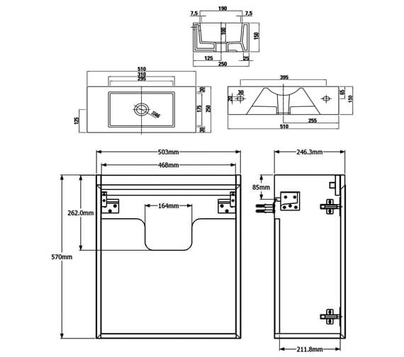 Technical drawing QS-V88177 / M0601.1