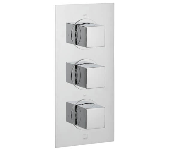 Vado Mix Concealed 2 Outlet 3 Handle Thermostatic Shower Valve