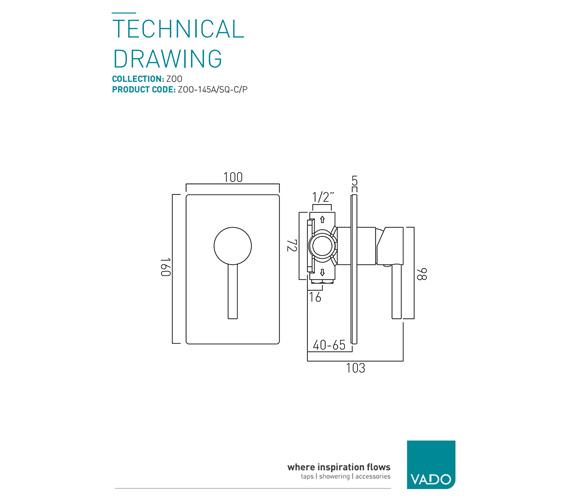 Technical drawing QS-V37218 / ZOO-145A/SQ-C/P