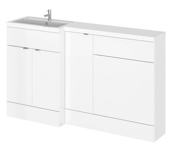 Hudson Reed Fusion 1500mm Furniture Pack - Vanity Unit-Base Unit-Wc Unit And Basin