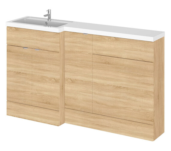 Additional image of Hudson Reed Fusion 1500mm Furniture Pack - Vanity Unit-Base Unit-Wc Unit And Basin