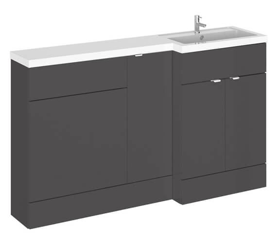Alternate image of Hudson Reed Fusion 1500mm Furniture Pack - Vanity Unit-Base Unit-Wc Unit And Basin