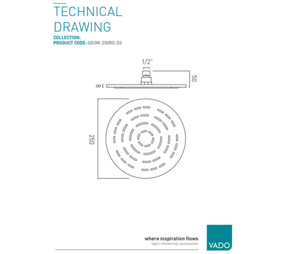 Technical drawing QS-V95341 / GEOM-250RO-SS