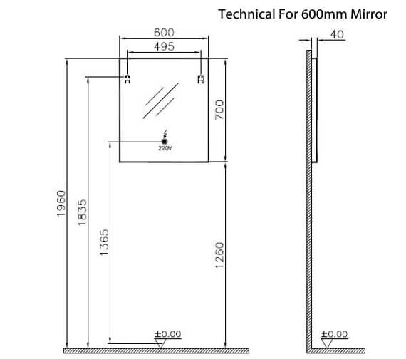 Technical drawing QS-V90783 / 61301