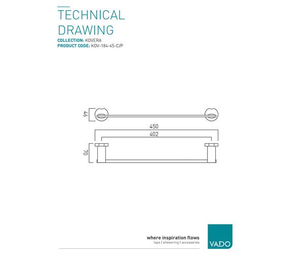 Technical drawing QS-V9400 / KOV-184-45-C/P