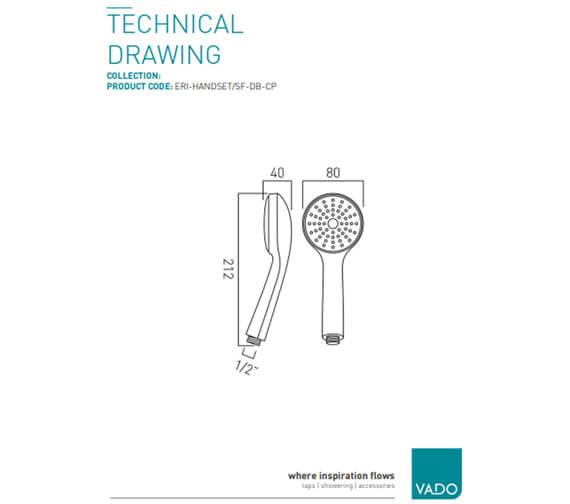 Technical drawing QS-V39821 / ERI-HANDSET/SF-DB-CP
