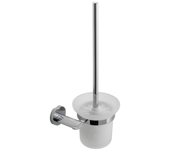 Vado Kovera Toilet Brush And Frosted Glass Holder