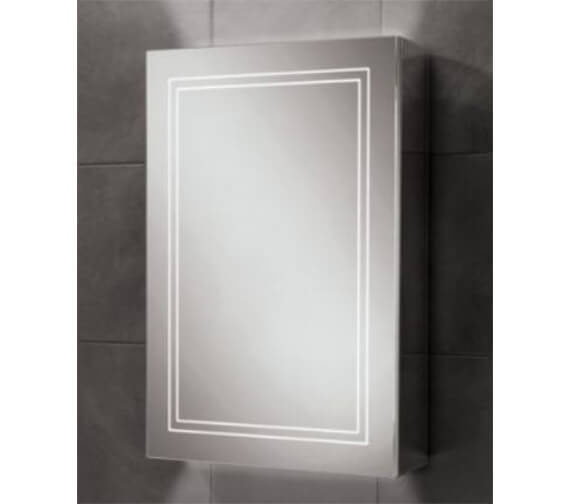 HiB Edge 50 Single Door LED Illuminated Cabinet 500 x 700mm