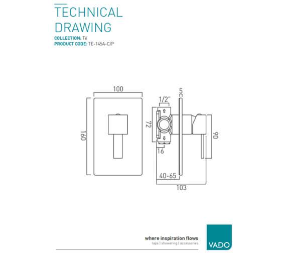 Technical drawing QS-V37087 / TE-145A-C/P