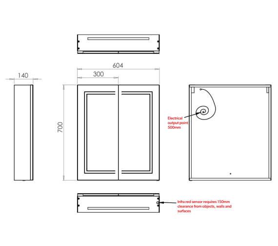Technical drawing QS-V99566 / 49500