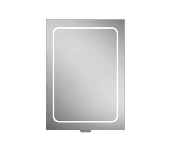 HIB Vapor LED Illuminated 500 x 700mm Aluminium Mirror Cabinet