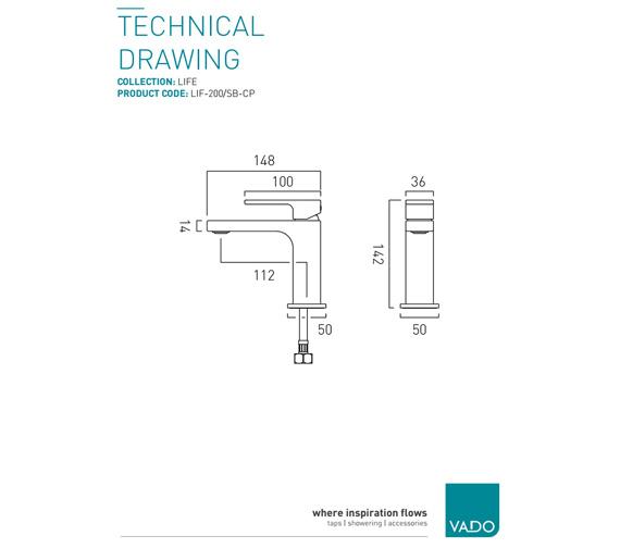 Technical drawing QS-V9412 / LIF-200/SB-CP