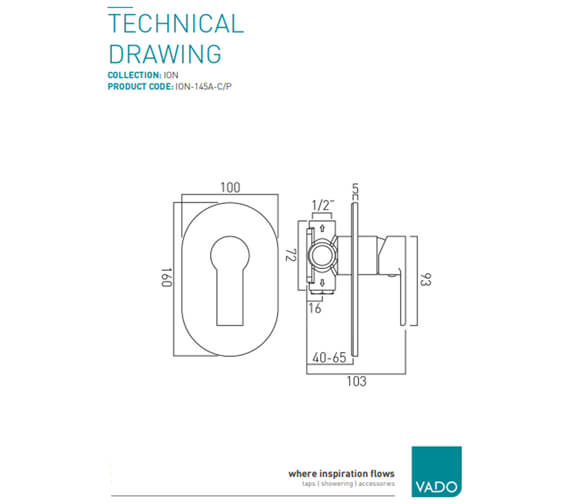 Technical drawing QS-V20590 / ION-145A-C/P