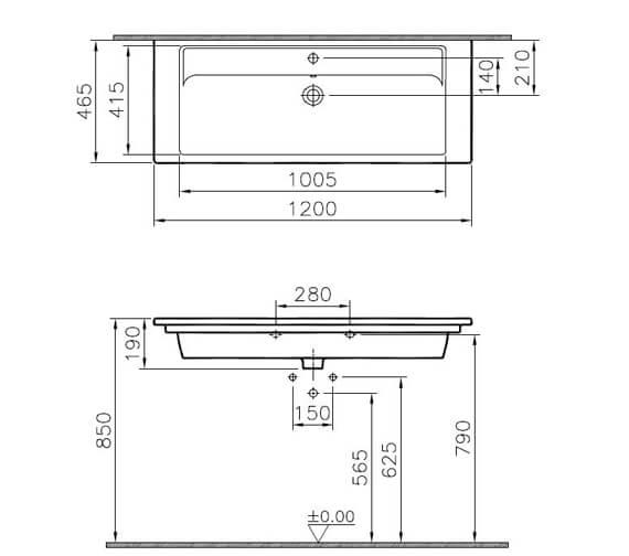 Technical drawing QS-V90786 / 7058B003-0001