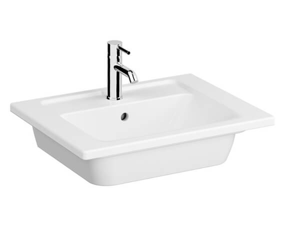 VitrA Integra White Vanity Basin With 1 Tap Hole