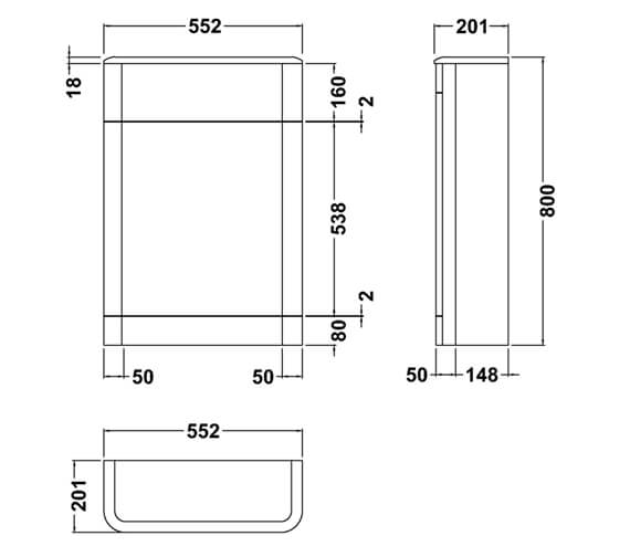 Technical drawing QS-V98002 / CUR341