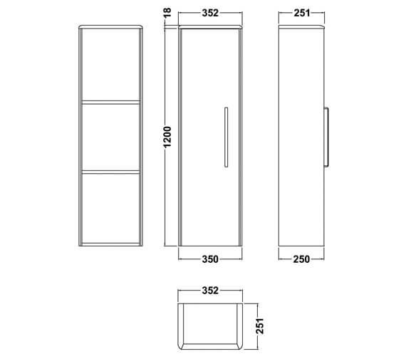 Technical drawing QS-V98003 / CUR362