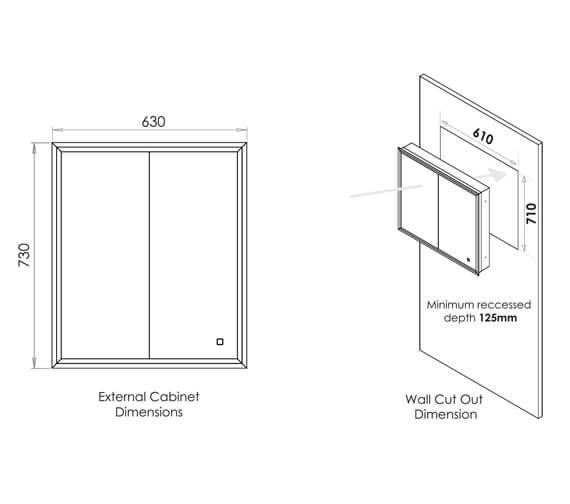 Technical drawing QS-V99575 / 51100