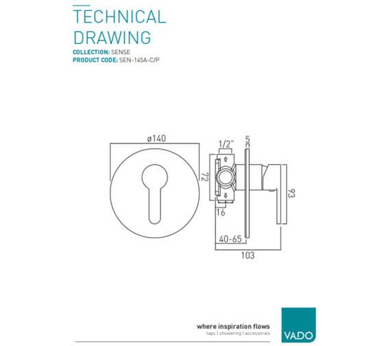 Technical drawing QS-V37153 / SEN-145A-C/P