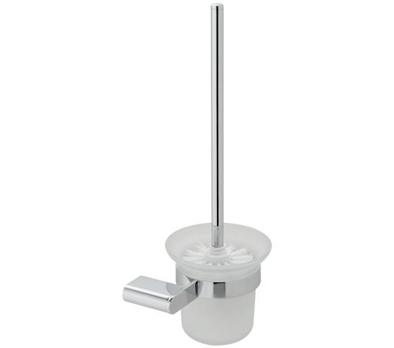 Vado Photon Toilet Brush and Frosted Glass Holder