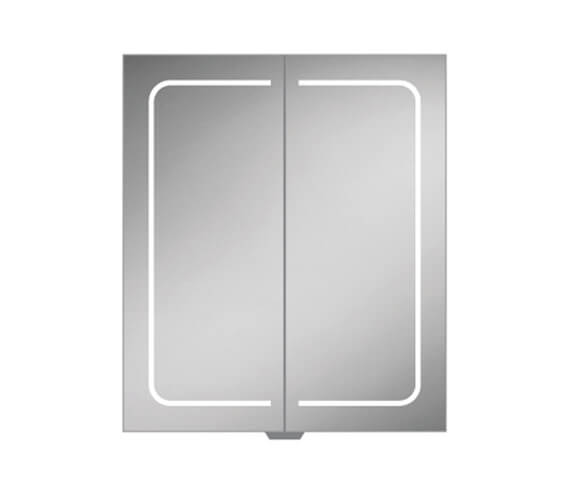 HIB Vapor 600 x 700mm LED Illuminated Aluminium Mirror Cabinet