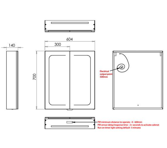 Technical drawing QS-V99568 / 51500