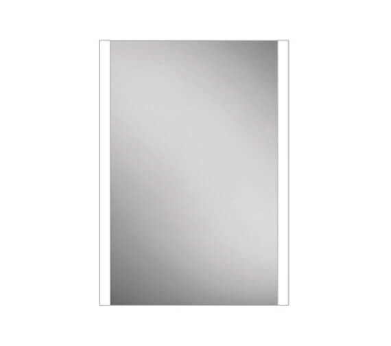 HiB Paragon 50 LED Illuminated Single Door Aluminium Mirror Cabinet 564 x 700mm