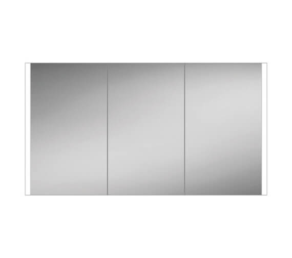 HiB Paragon 120 LED Illuminated Triple Door Aluminium Mirror Cabinet 1264 x 700mm