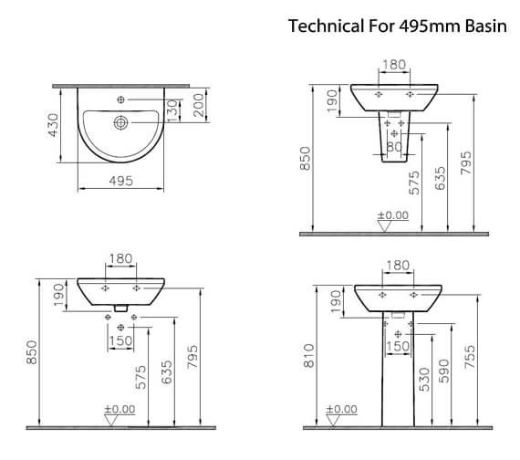 Additional image of VitrA Integra 1 Tap Hole Round Ceramic Washbasin