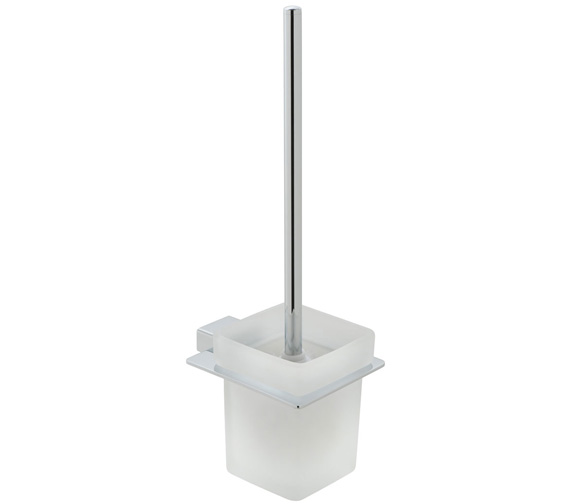 Vado Phase Toilet Brush and Frosted Glass Holder