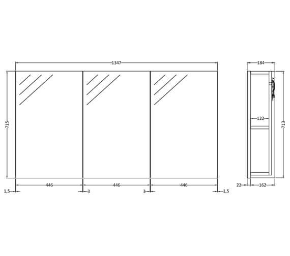 Technical drawing QS-V58560 / QUA009