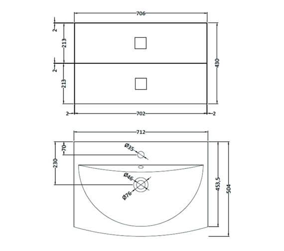 Technical drawing QS-V95225 / SAR617
