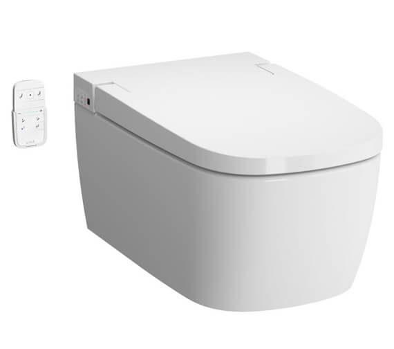 VitrA V-Care 600mm Smart Wall Hung Essential Rim-Ex WC Pan With Seat