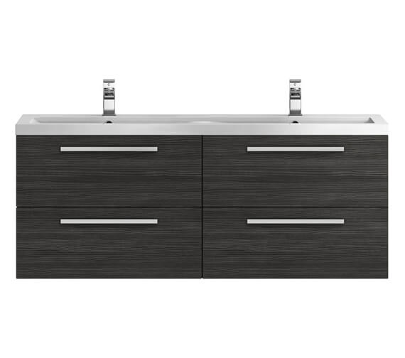Additional image of Hudson Reed Quartet 1440 x 510mm Wall Hung Cabinet And Double Basin