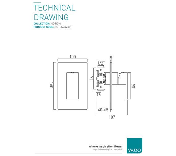 Technical drawing QS-V37061 / NOT-145A-C/P