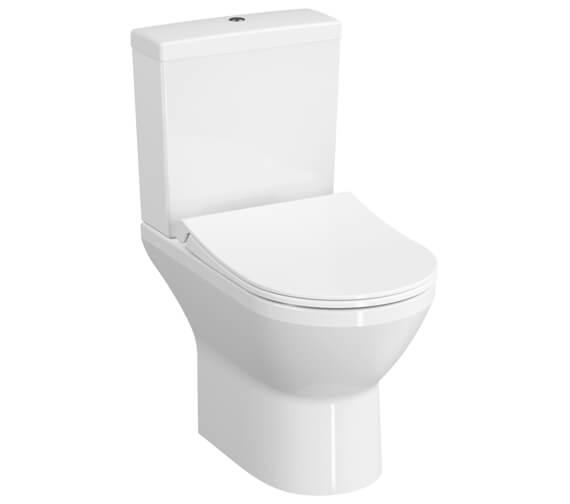 VitrA Integra 620mm Rimless Closed Couple Open Back WC Pan