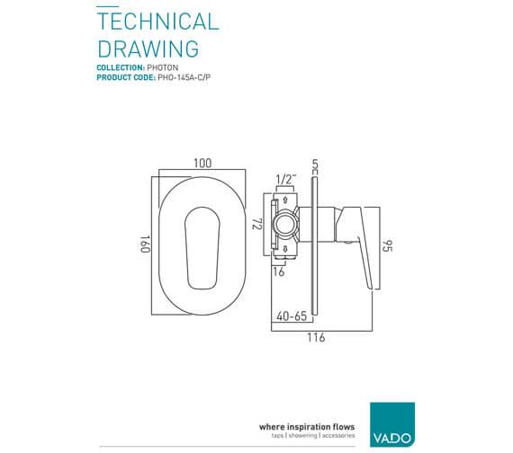 Technical drawing QS-V20577 / PHO-145A-C/P
